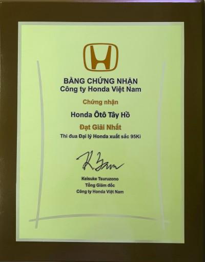 Honda Ô tô Tây Hồ - Tự hào thương hiệu số 1 của Honda Ôtô Việt Nam